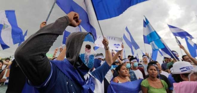 Nicaragua acuerda destrabar diálogo en medio de grave crisis y represión. Foto: AFP