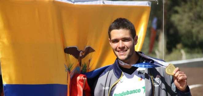 COCHABAMBA, Bolivia.- Alfredo Campo lideró la competencia de ciclismo en la modalidad BMX. Foto: COE