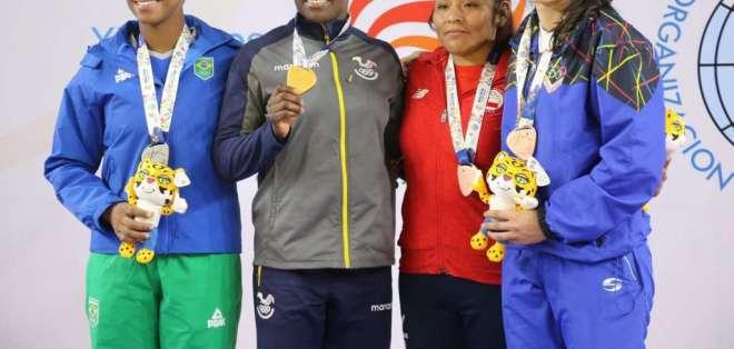 COCHABAMBA, Bolivia.- Vanessa Chalá logró el primer puesto en la división de 78 kg en judo. Foto: COE