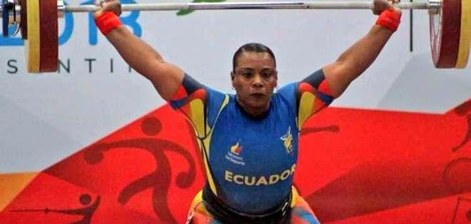 COCHABAMBA, Bolivia.- La pesista Seledina Nieve logró medalla de plata en la modalidad  90 kg. Foto: COE