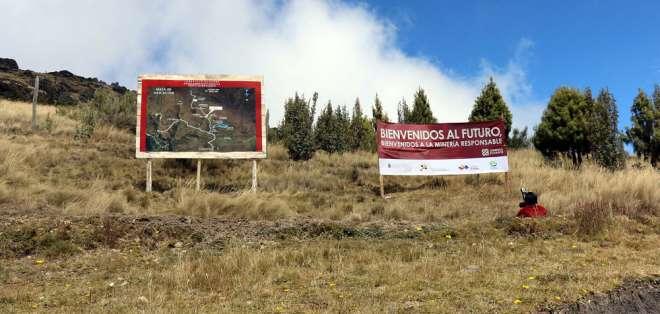 Gráfica tomada en agosto de 2016, en la inauguración del proyecto minero: Foto: Flickr Sectores Estratégicos.