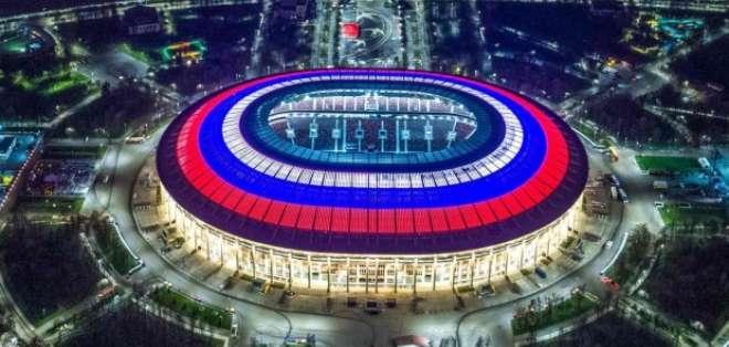 La ceremonia de inauguración del Mundial será en el estadio Luzhnikí de Moscú. Foto: AFP