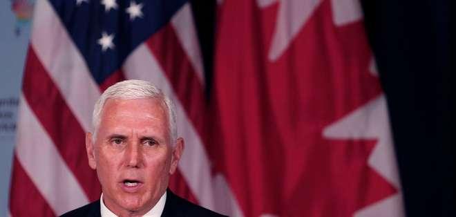 """Según Mike Pence, aceptó la """"invitación amable"""" del mandatario Lenín Moreno. Foto: Archivo AP"""