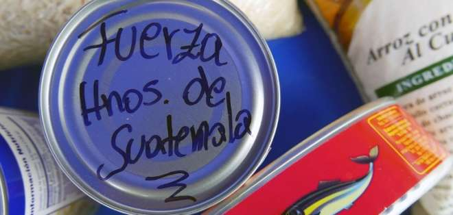 La alcaldía de la capital junta esfuerzos para recibir donaciones de la ciudadanía. - Foto: AFP