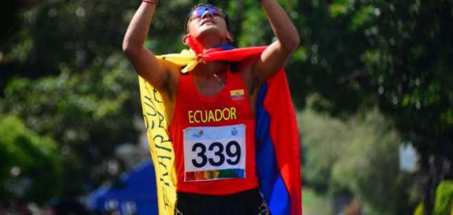 Bryan Pintado venció en la distancia de 20 km. Foto: Tomada de @DeporteCZ1