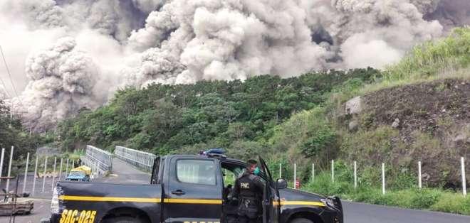 La erupción del cráter ha dejado 75 muertos y 192 desaparecidos. Foto: AFP