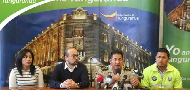 La muerte del detenido fue confirmada por la Gobernación de Tunguragua. Foto: Twitter Gobernación Tungurahua.