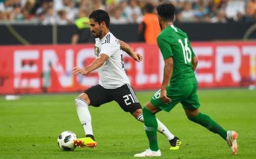 Los 'germanos' vencieron 2-1 a Arabia Saudita en Leverkusen. Foto: Patrik STOLLARZ / AFP