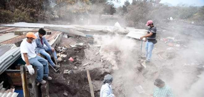 La tragedia en Guatemala ha dejado, hasta el momento, 110 muertos.  Foto: AFP
