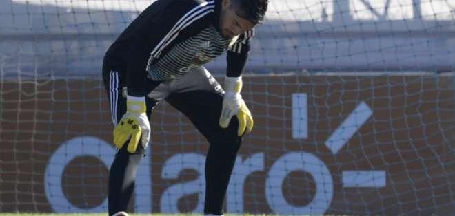 Romero apunta a la titularidad en Argentina. Foto: AFP