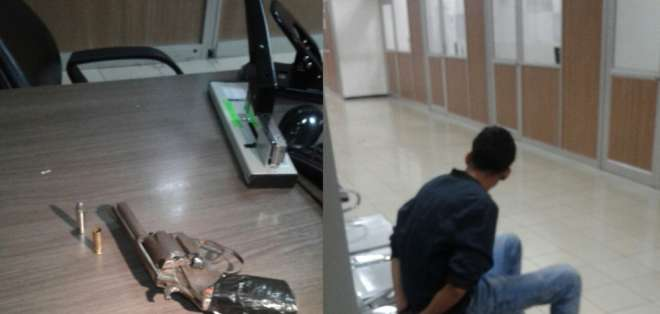 Las autoridades pudieron detener al hombre y se le decomisó el arma de fuego. Fotos: Cortesía