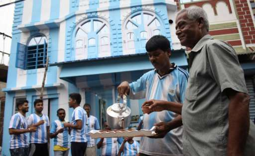 Shib Shankar Patra apoyará a Argentina en el Mundial Rusia 2018. Foto: AFP