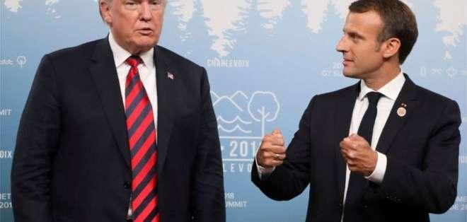 Emmanuel Macron sostuvo conversaciones con Donald Trump al margen de la cumbre.