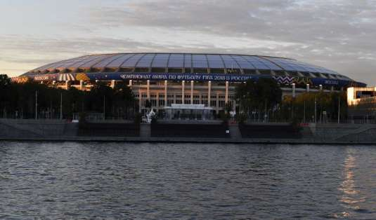 El estadio Luznikhi de Moscú acogerá la ceremonia y el partido inaugural. Foto: YURI CORTEZ / AFP