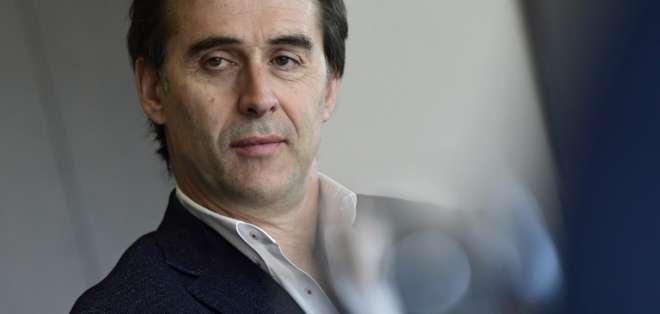 """Lopetegui es acusado de """"traicionar"""" a España. Foto: AFP"""
