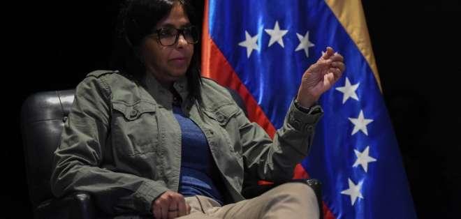 Rodríguez es la presidenta de la Asamblea Constituyente. Foto: AFP