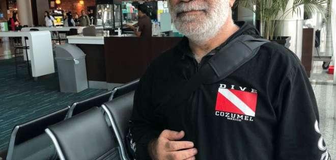 El hombre estuvo más de 40 días varado en la terminal aérea de Guayaquil. Foto: Cortesía.