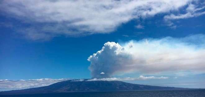La erupción del volcán ocurre nueve meses desde su último proceso. Foto: Archivo