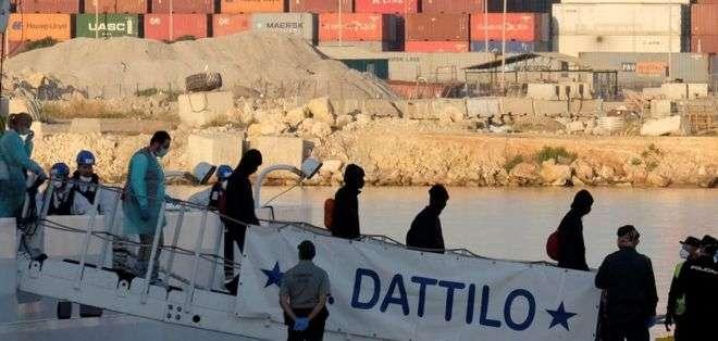 El Aquarius rescató a 630 migrantes la semana pasada. Foto: REUTERS