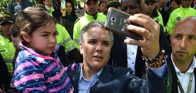 Más de 10 millones de electores apoyaron el regreso de la derecha conservadora a Colombia. Foto: AFP