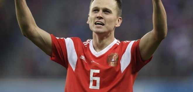 El ruso anotó este martes en la victoria 3-1 ante Egipto. Foto: GABRIEL BOUYS / AFP