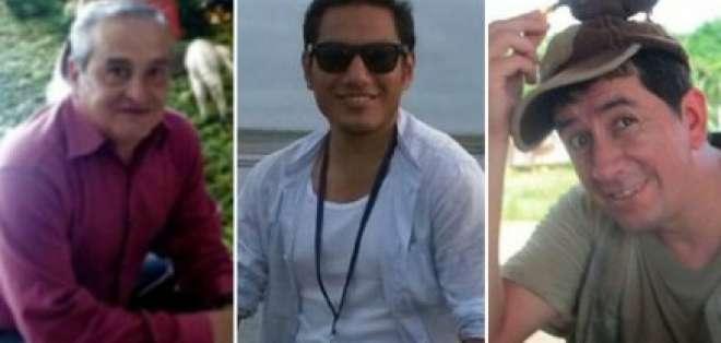 El equipo de diario El Comercio fue secuestrado y asesinado en abril. Foto: Archivo.