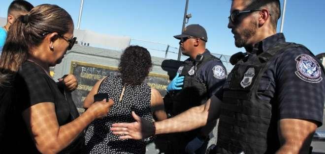 Siguen presiones por el escándalo de la separación de familias en la frontera sur. Foto: AFP