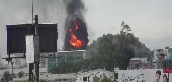 El incendio fue catalogado como de alarma tres. Foto: ECU 911