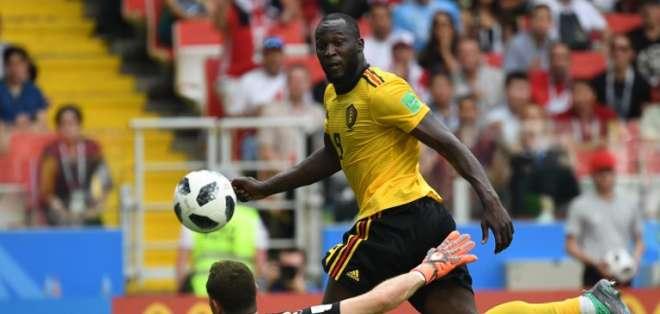 MOSCÚ, Rusia.- Romelu Lukaku anotó dos goles más en este partid y empata a CR7 como máximos goleadores de este torneo. Foto: AFP