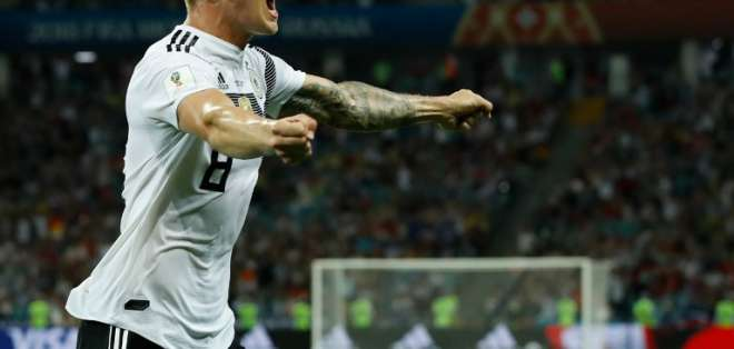 SOCHI, Rusia.- Con un golazo de Toni Kroos, los  alemanes superaron al elenco sueco. Foto: AFP