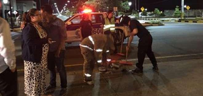 A pesar del golpe fuerte, no hubo muertos ni heridos. - Foto: Redacción