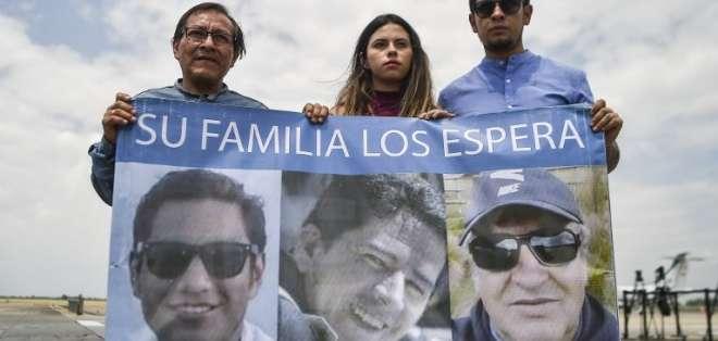 Ecuador protesta ante Colombia por manejo de caso de periodistas asesinados. Foto: AFP