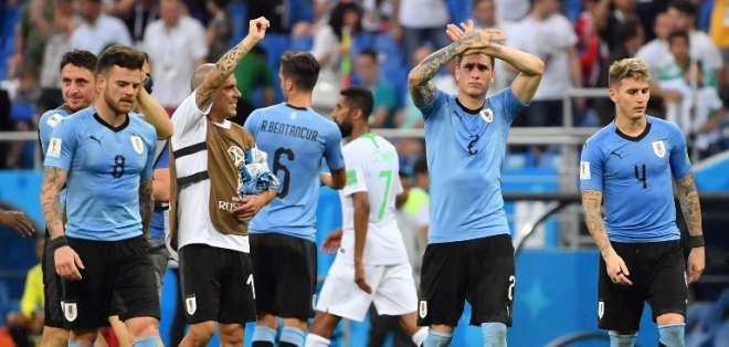 La selección de Uruguay es el único equipo latinoamericano que ha asegurado su pase a octavos de final. Foto: AFP