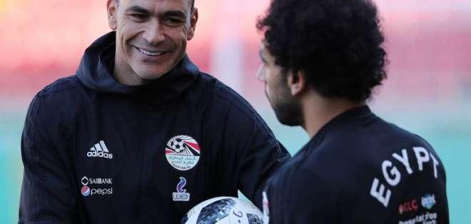 Essam El Hadary, de 45 años, juega en la selección egipcia desde 1996. Foto: AFP