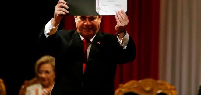 PARAGUAY.- El mandatario fue elegido el 22 de abril legislador por el oficialista Partido Colorado. Foto: AP