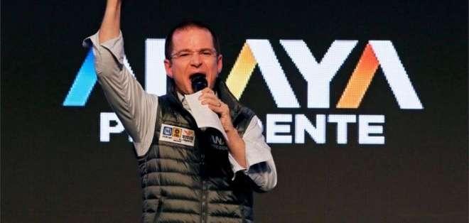Ricardo Anaya es el candidato de la coalición Por México al Frente.
