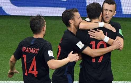 Los 'croatas' pasaron primeros del grupo D con 9 puntos +6 de gol diferencia. Foto: Khaled DESOUKI / AFP