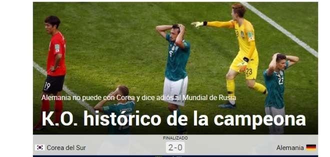 Los 'germanos' llegaron al Mundial como los campeones defensores. Foto: Tomada de marca.com