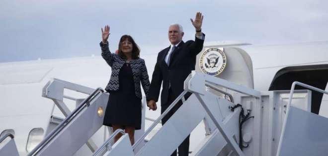 Pence tiene previsto reunirse con el presidente de la República, Lenín Moreno. Foto: API
