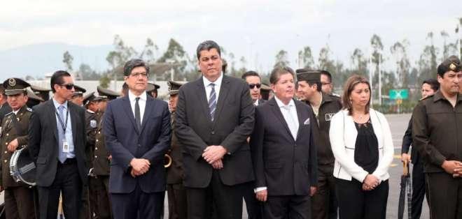 Ministro del Interior se pronunció tras arribo de cadáveres de periodistas de El Comercio. Foto: Secom