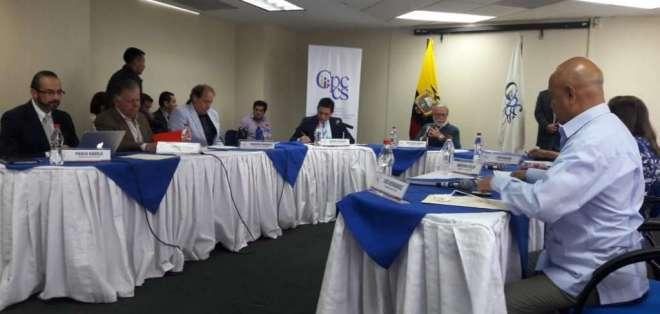 Miembros del Consejo Transitorio sesionan en Guayaquil. Foto: Twitter Consejo Transitorio.
