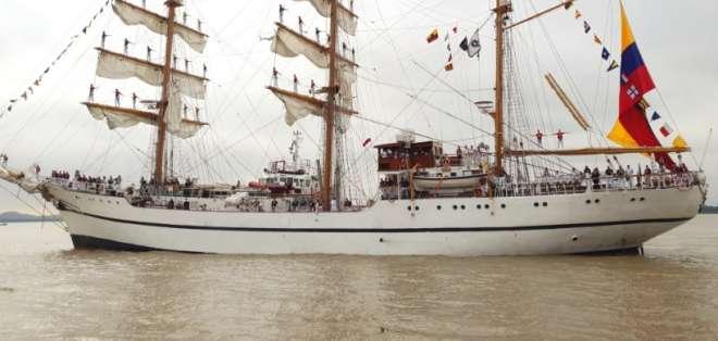 El río Guayas recibe a buques de 8 Armadas de Latinoamérica. Foto: Ecuavisa