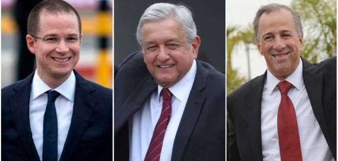 Ricardo Anaya, Andrés Manuel López Obrador y José Antonio Meade son los tres principales contendientes. Foto: AFP/REUTERS