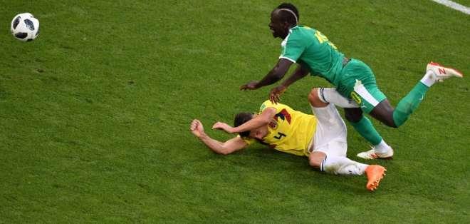 Los 'cafeteros' empatan 0-0 ante Senegal en Samara. Japoneses y polacos también igualan. Foto: Fabrice COFFRINI / AFP
