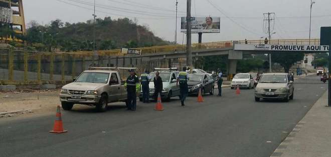 Operativo de la Autoridad de Tránsito Municipal. Foto: ATM