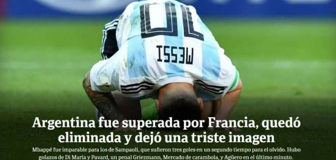 Portada diario El Clarín. Foto: Captura de pantalla
