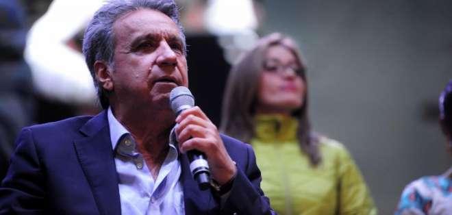 Moreno reacciona ante la polémica declaración de Correa. Foto: API - Archivo