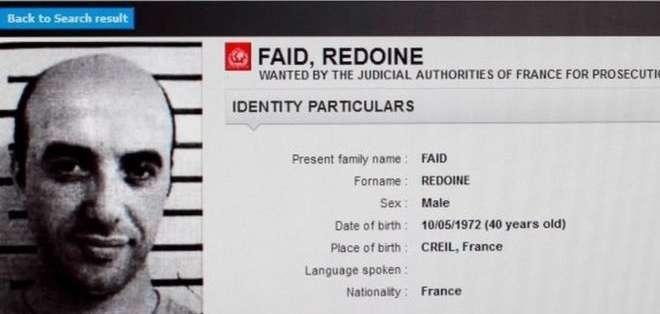 Redoine Faid fue colocado en la lista de los más buscados de Interpol después de fugarse en 2013.