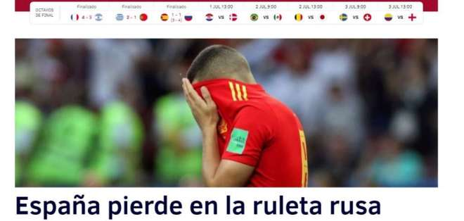Portada de El Mundo. Foto: Captura de pantalla