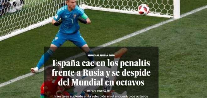 Portada de El País. Foto: Captura de pantalla